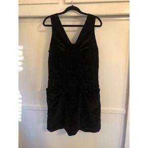 Marc By Marc Jacobs Black Cotton Velvet Dress